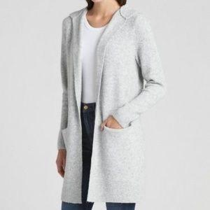 NWT Gap  Textured Open Front Cardigan Grey Medium